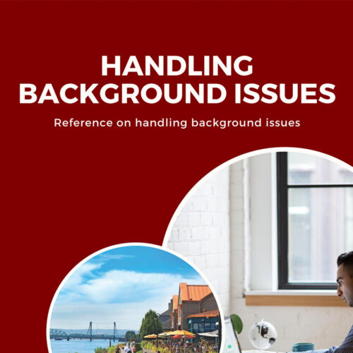 Handling Background Issues